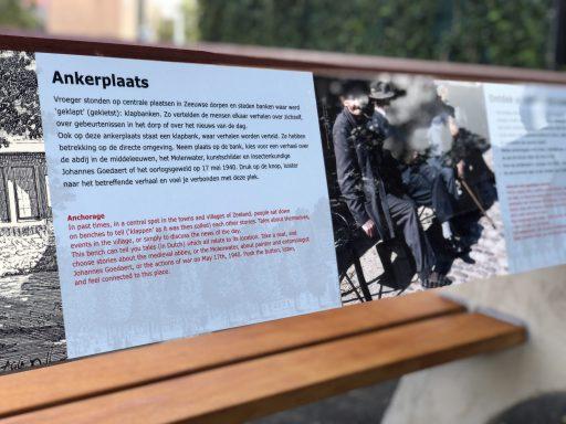 Afbeelding #002 voor het verhaal De tiende en laatste Zeeuwse Klapbank onthuld in Park Molenwater in Middelburg