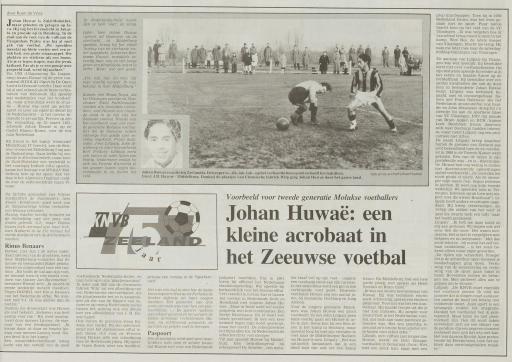 Afbeelding #000 voor het verhaal Over stervoetballer Johan Huwaë, de pleegzoon van de oude Lavooy
