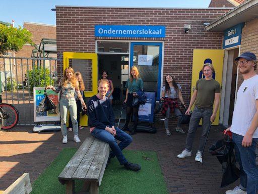 Afbeelding #000 voor het verhaal Studenten ruimen weer zwerfafval op in Middelburg Centrum