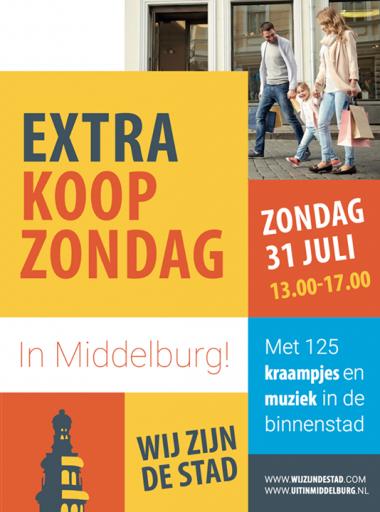 Afbeelding #000 voor het verhaal 31 juli 2016: een bijzondere extra Koopzondag in Middelburg