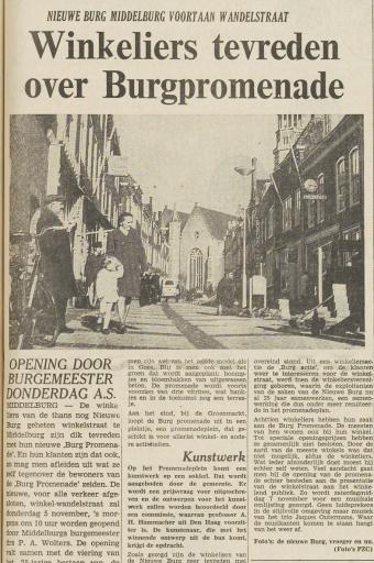 Afbeelding #001 voor het verhaal 50 jaar geleden: de opening van de Burgpromenade in Middelburg