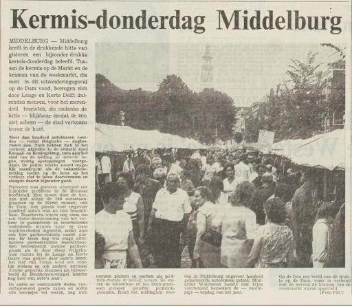 Afbeelding #001 voor het verhaal 50 jaar geleden: drukte op de Middelburgse Weekmarkt en Kermis