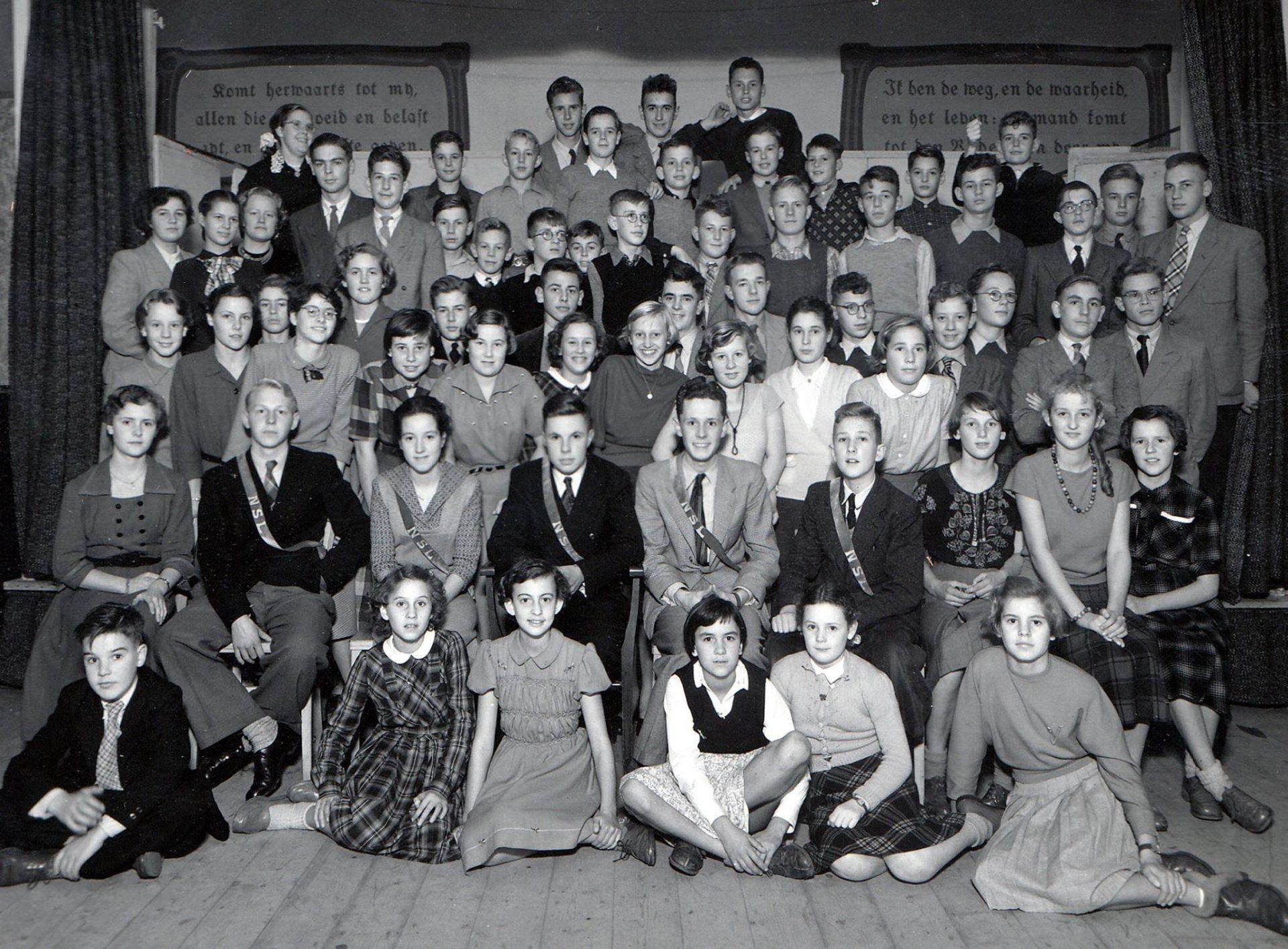 Afbeelding #000 voor het verhaal 650 jaar Latijnse School Middelburg: historische foto's