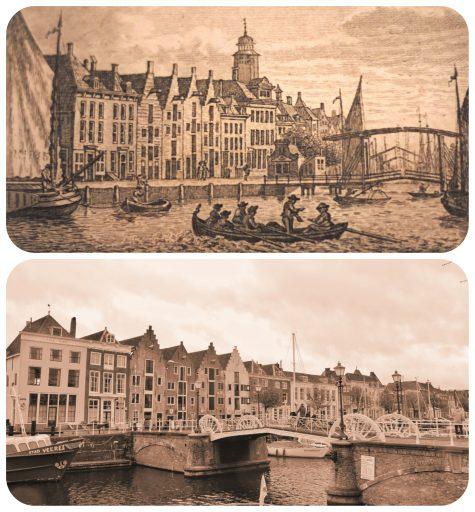 Afbeelding #000 voor het verhaal Kopergravures van het oude Middelburg, toen en nu