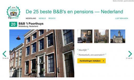 Afbeelding #000 voor het verhaal B&B 't Poorthuys bij beste 25 van Nederland