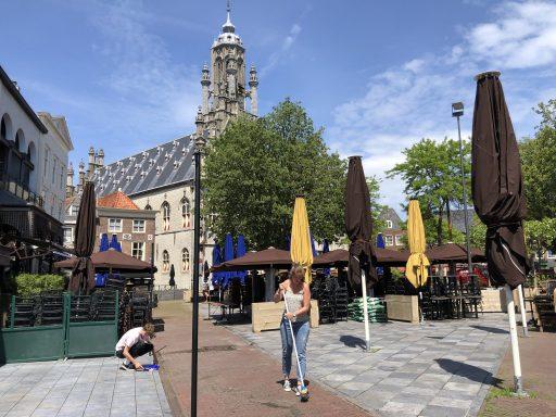 Afbeelding #003 voor het verhaal B&W Middelburg stemt in met leeuwendeel van terrasplannen en -verzoeken Horeca