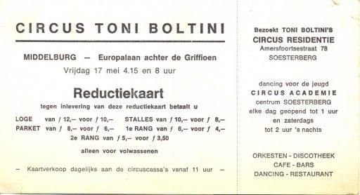 Afbeelding #001 voor het verhaal Circus Boltini in Middelburg, 1972
