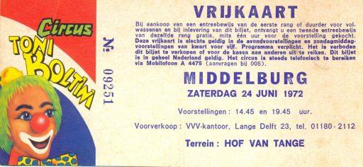 Afbeelding #002 voor het verhaal Circus Boltini in Middelburg, 1972