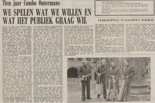 Afbeelding #002 voor het verhaal Combo Outermans: wereldberoemd in het Zeeland van de jaren 60 en 70