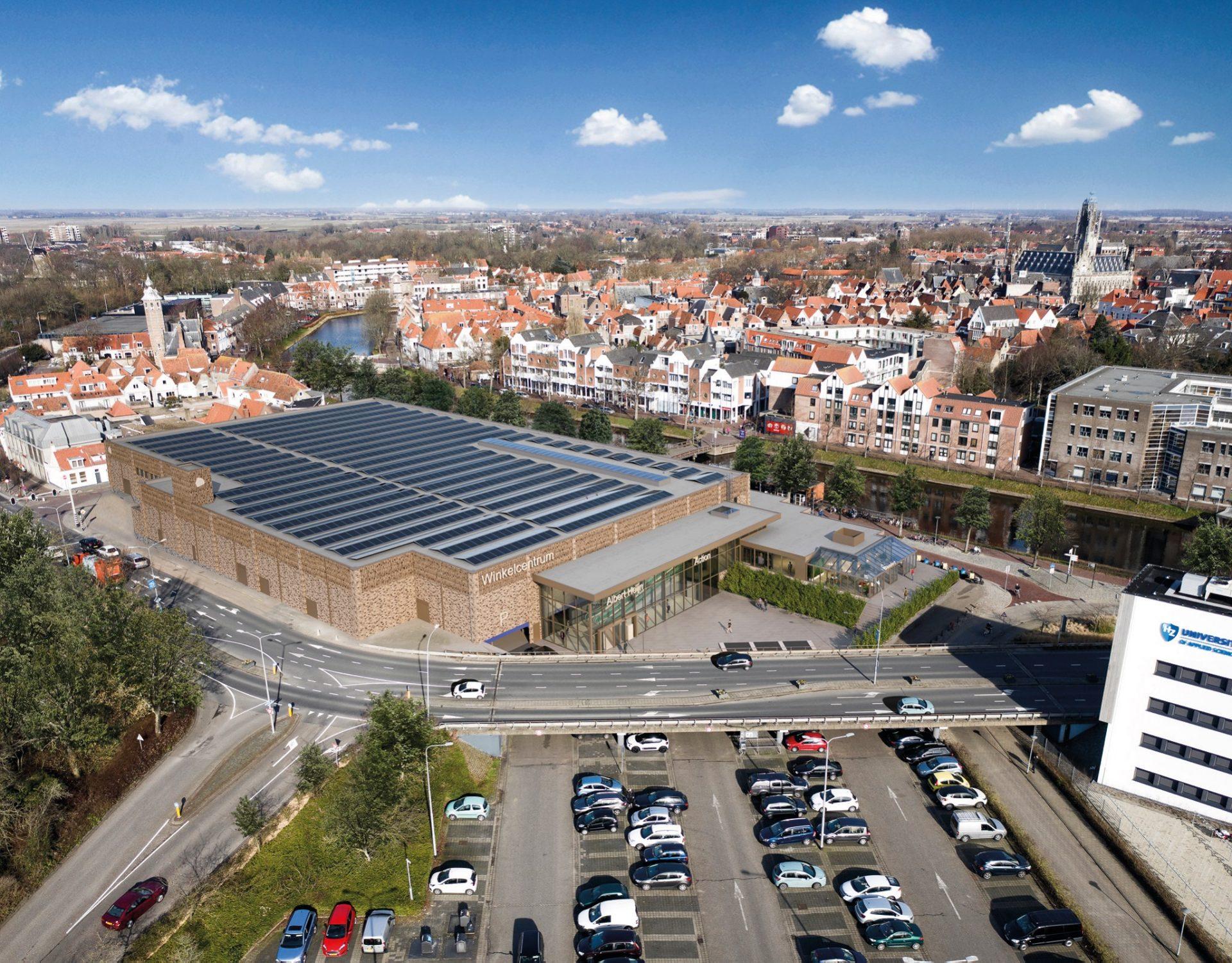 Afbeelding #000 voor het verhaal De eerste beelden van de toekomstige Albert Heijn in Middelburg Centrum