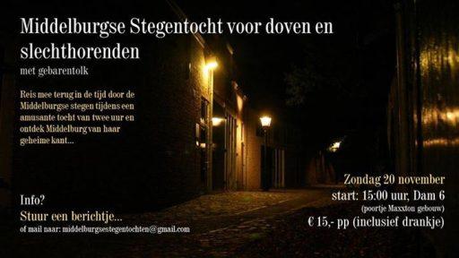 Afbeelding #000 voor het verhaal De Middelburgse Stegentochten voor doven en slechthorenden