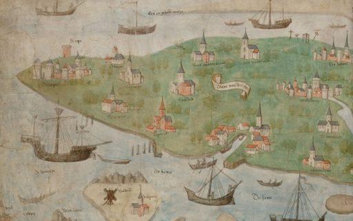 Afbeelding #000 voor het verhaal De Scheldekaart van Rupelmonde tot aan het Zwin en het eiland Walcheren (1468)