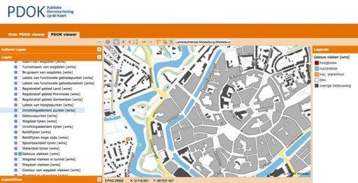 Afbeelding #000 voor het verhaal Details over de stad in kaart gebracht met de PDOK Viewer