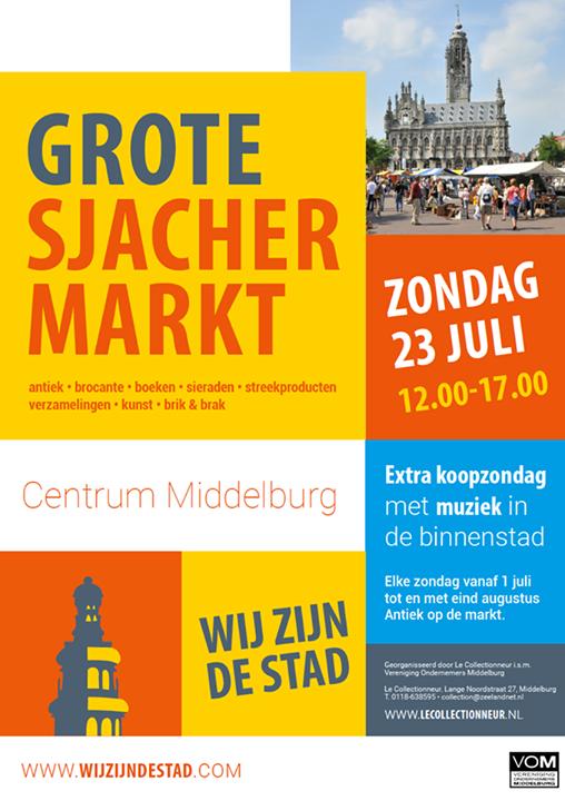 Afbeelding #000 voor het verhaal Extra Koopzondag Middelburg, 23 juli 2017