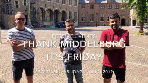Afbeelding #000 voor het verhaal Festive Events over Thank Middelburg It's Friday, Abdijplein 21 juni 2019