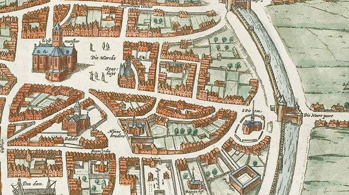 Afbeelding #000 voor het verhaal Fragment van een stadsplattegrond van Middelburg, 1575