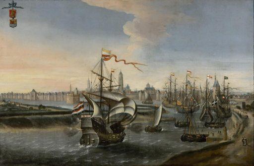 Afbeelding #000 voor het verhaal Gezicht op Middelburg, of: hoe waarheidsgetrouw is een schilderij uit 1550 eigenlijk?