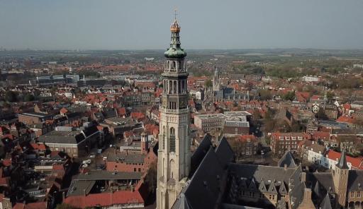 Afbeelding #000 voor het verhaal Haven Middelburg vanuit de lucht, april 2020