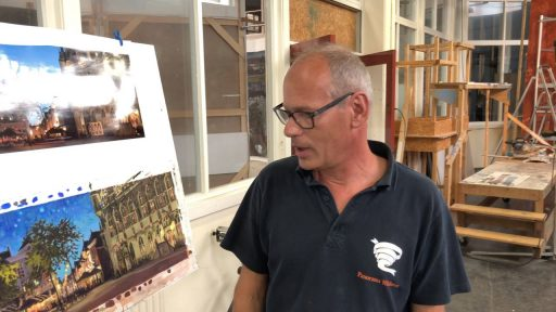 Afbeelding #000 voor het verhaal Het Blauwe Uur: een nieuw Middelburgs schilderij van Jo Dumon Tak
