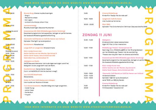 Afbeelding #001 voor het verhaal Het programma van Stadsfeesten Middelburg 2017