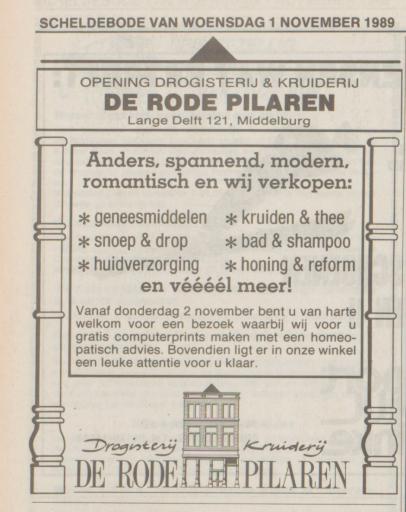 Afbeelding #000 voor het verhaal Hoera! Drogisterij De Rode Pilaren bestaat dertig jaar!