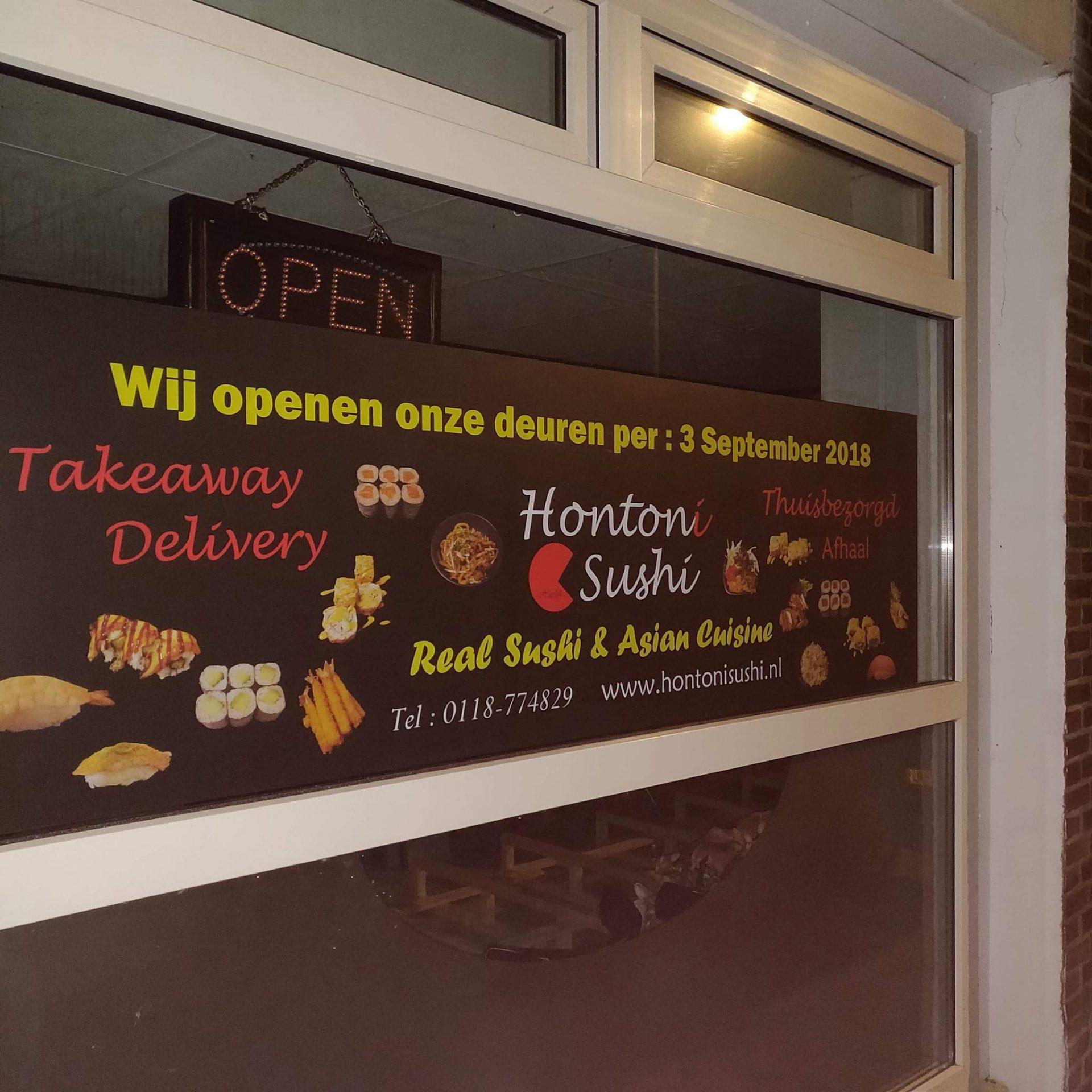 Afbeelding #001 voor het verhaal Hontoni Sushi opent aan de Langevieleweg, in september