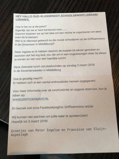Afbeelding #004 voor het verhaal Iedereen welkom op de reünie van de Griffioenmavo in Middelburg