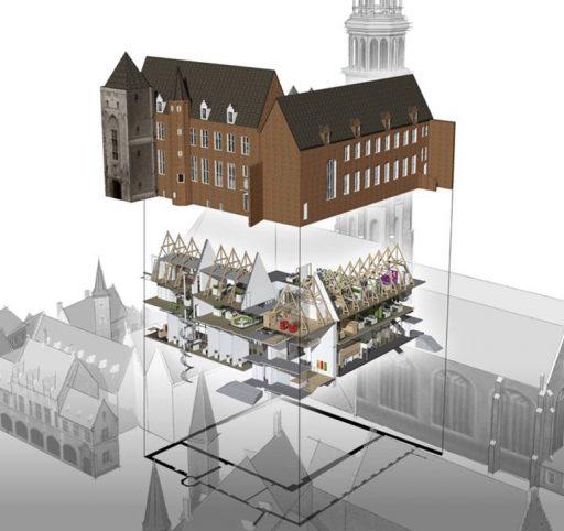 Afbeelding #000 voor het verhaal Kantoren Provincie Zeeland in Abdij Middelburg worden verbouwd