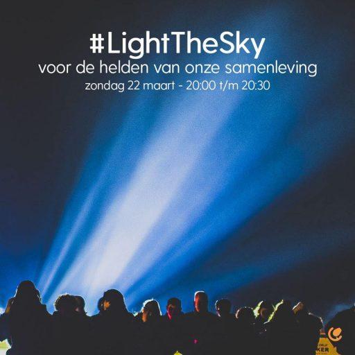 Afbeelding #000 voor het verhaal #LightTheSky: licht in de Middelburgse lucht, zondagavond 22 maart