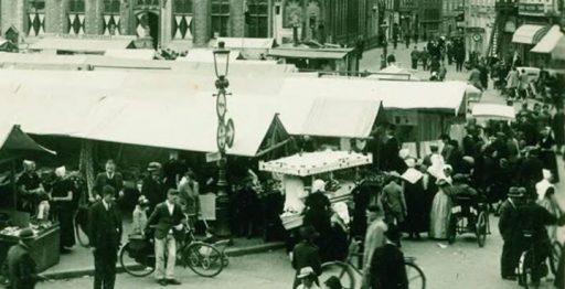 Afbeelding #000 voor het verhaal Markt in Middelburg, jaren 30