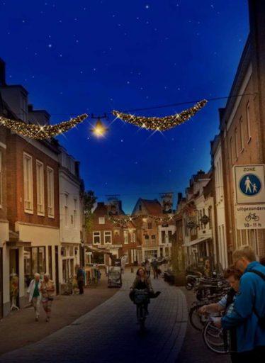 Afbeelding #001 voor het verhaal Meer sfeerverlichting in de binnenstad van Middelburg: een update én oproep van de VOM