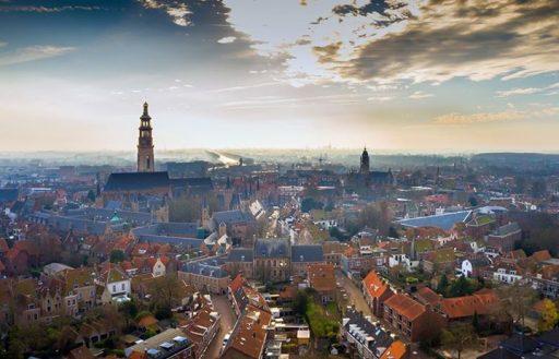 Afbeelding #000 voor het verhaal Middelburg in dronevlucht, januari 2017