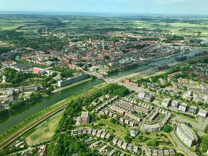 Afbeelding #000 voor het verhaal Middelburg van boven, 5 juni 2017