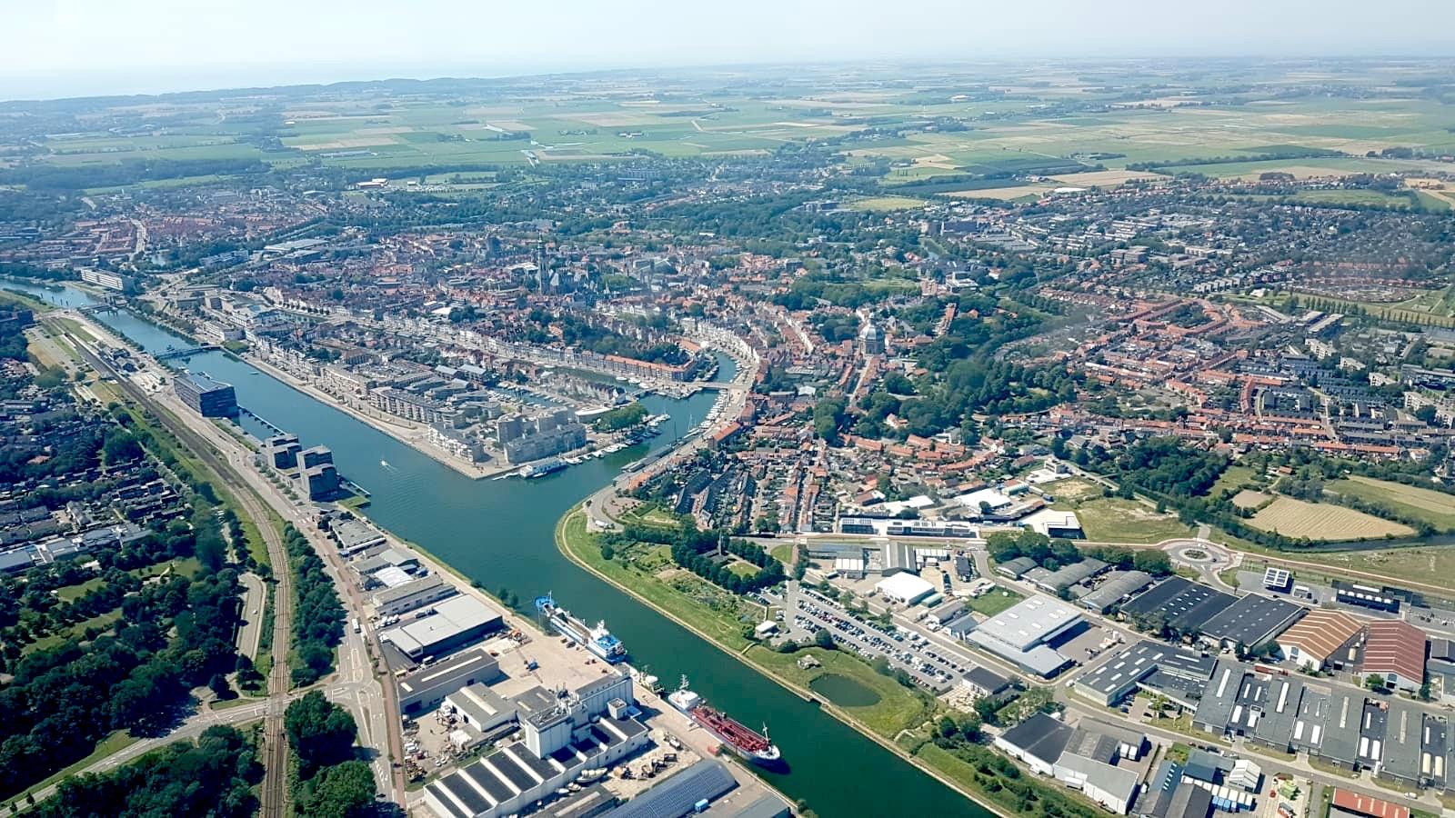 Afbeelding #000 voor het verhaal Middelburg vanuit de lucht, 31 juli 2020