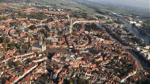 Afbeelding #000 voor het verhaal Middelburg vanuit de lucht, oktober 2016