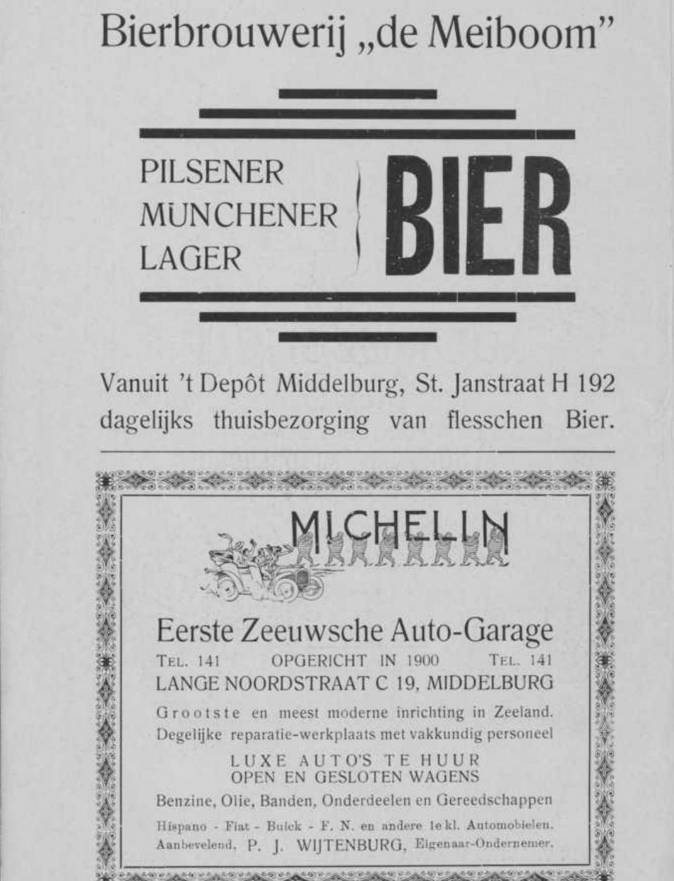 Afbeelding #000 voor het verhaal Middelburgse ondernemers adverteren, 1925
