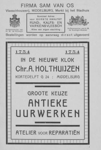 Afbeelding #002 voor het verhaal Middelburgse ondernemers adverteren, 1925