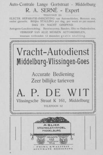 Afbeelding #003 voor het verhaal Middelburgse ondernemers adverteren, 1925