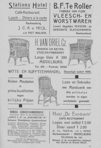 Afbeelding #004 voor het verhaal Middelburgse ondernemers adverteren, 1925