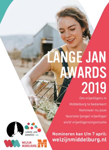 Afbeelding #000 voor het verhaal Nomineer je favoriete Middelburgse vrijwilliger voor de Lange Jan Awards!