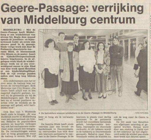 Afbeelding #000 voor het verhaal Ook in de jaren 80 gebeurde er van alles, in Middelburg
