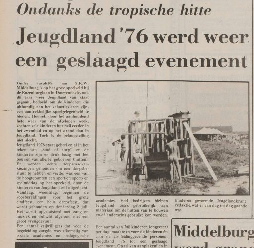 Afbeelding #001 voor het verhaal Over Middelburg en die zomer van 1976...