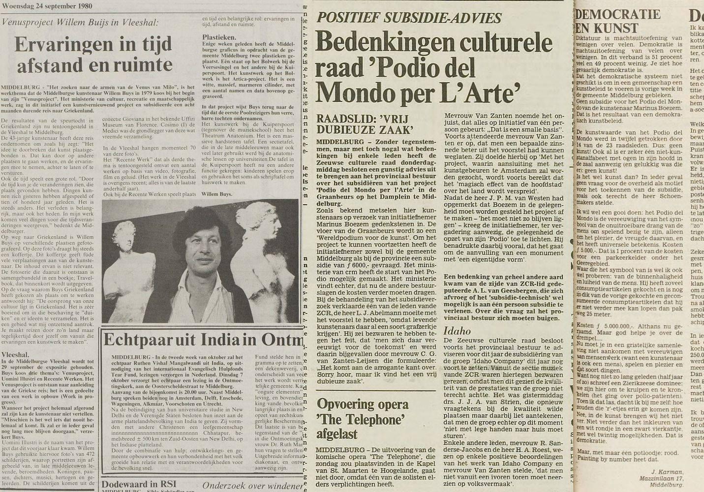 Afbeelding #000 voor het verhaal Podio del Mondo in Middelburg