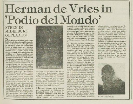 Afbeelding #001 voor het verhaal Podio del Mondo in Middelburg