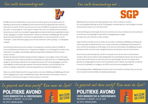 Afbeelding #000 voor het verhaal Politieke avond 12 maart Binnenstad en ondernemen: meer standpunten