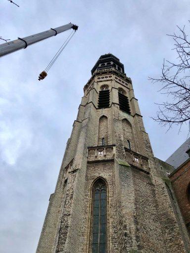 Afbeelding #000 voor het verhaal Speelwerk klokken Lange Jan Middelburg wordt vernieuwd