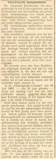 Afbeelding #003 voor het verhaal Sylvain Boekbinder begoochelt Middelburg, 1919