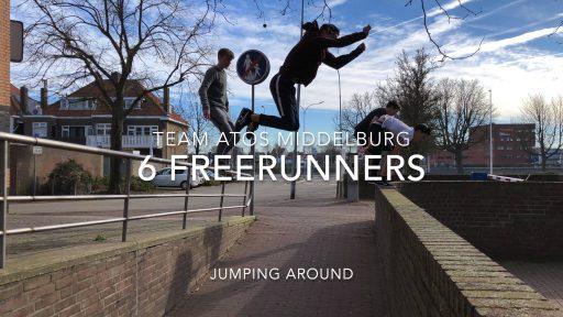Afbeelding #000 voor het verhaal Team Atos: 6 Freerunners jumping around...in Middelburg