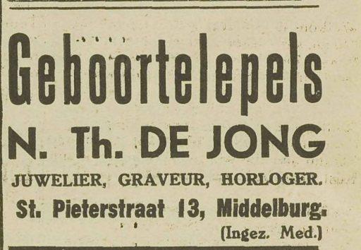 Afbeelding #002 voor het verhaal Uit de geschiedenis van juwelier de Jong in de Sint Pieterstraat