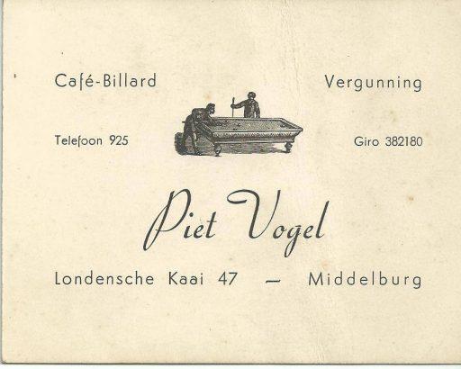 Afbeelding #003 voor het verhaal Uit de Middelburgse geschiedenis: het café van Piet Vogel